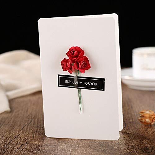 RAQ Droge bloem uitnodigingskaart creatieve handgemaakte daggroetkaart dagbericht kaart verjaardagskaart