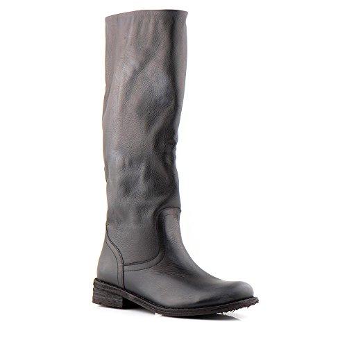 Felmini - Scarpe Donna - Innamorarsi Com Gredo 6817 - Stivali Alti Classic - Pelle Genuina - Nero - 37 EU Size