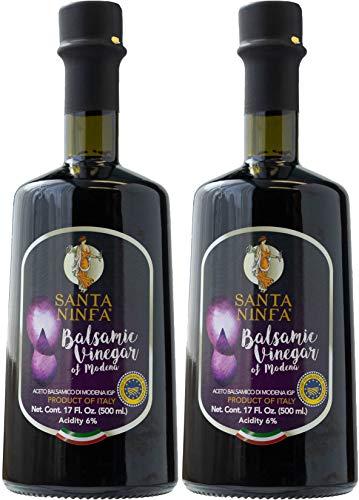 Santa Ninfa Balsamic Vinegar of Modena IGP, 17 Fl Oz Glass Bottle, (Pack of 2)