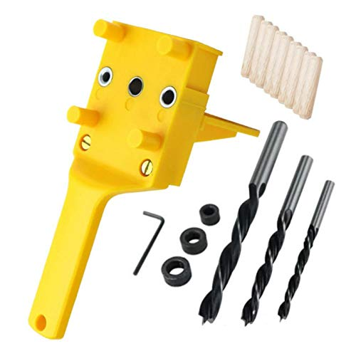 6/8 / 10mm Pocket Vertical Hole Punch, Woodworking Drill, Positioner, Wood Stand, Self Adjusting Bit, Guide, Punching