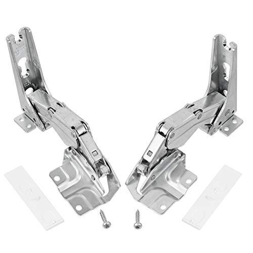 Tür-Scharnier-Set von SPARES2GO für Einbau-Kühlschrank/-Gefrierschrank von Hettich (linke und rechte Scharniere mit Codes: 3306 3702 3307 3703 5.0 41.5)
