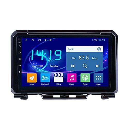 GPS Navigation Coche Radio Estéreo para Suzuki Jimny 2019 Head Unit Sat Nav Video Receptor HD Pantalla táctil Support MirrorLink Bluetooth WiFi Player Multimedia USB AUX,4 Core 4g+WiFi: 2+32gb
