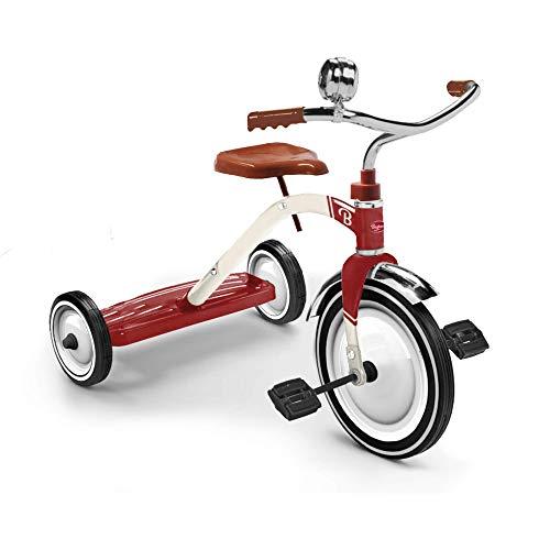 Baghera Vintage Dreirad | Kinderfahrrad Mit Stahlrahmen und Gummireifen - Retro Laufrad mit DREI Rädern - Klassischer Stil | Kinderdreirad für Kinder ab 2 Jahren