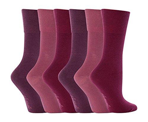 Sock ShopDamen Socken, Einfarbig Rosa Deep Pink Mix