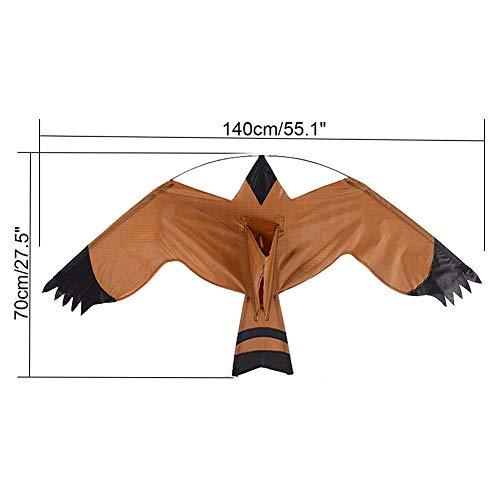 Bird Repelling Eagle Kite Réaliste Scare Bird, Hawk, Pigeon et Squirrel Repellent, Pest Deterrent, Yard and Garden Ornaments, Light Weight Easy to Assemble Bird Kite for Garden Yard Farm