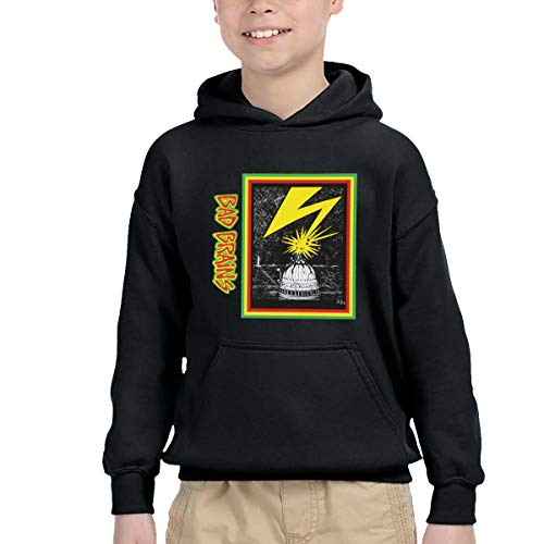 YourYarm Bad Brains Keep Warm Hoodie Sweater with Pocket for Bpys Kids Girls Black 4T
