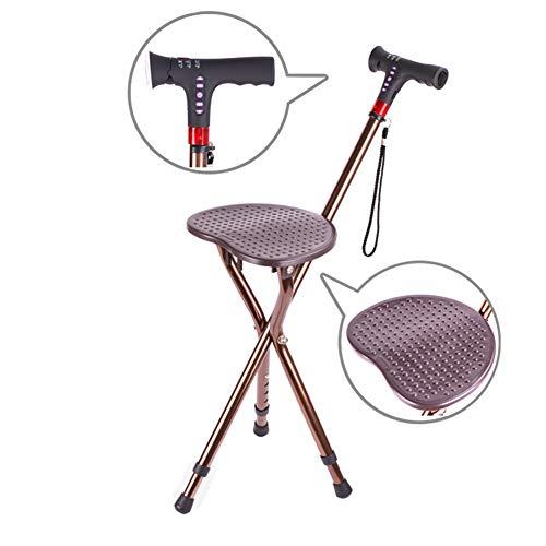 Slimme opvouwbare wandelstokkruk voor invaliditeitssenioren/aluminiumlegering/in hoogte verstelbaar, MP3-speler + hoorbaar alarm + led-licht, beste geschenkkeuze