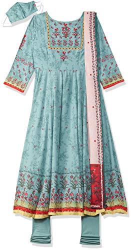 Biba Women's Rayon Salwar Suit Set (Skd7156_32, Turquoise, S)