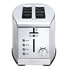 2 slice toaster: Toast up to 2 slices of bread to crispy perfection; extra large, self centering slots ensure even browning and accommodate a variety of breads, including bagels, buns, english muffins, and more 6 browning settings: Choose preferred l...