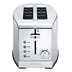 commercial KRUPS KH732D50 Toaster 2 slices, stainless steel toaster, 5 functions (undo, toast, etc.) 2 slice toasters