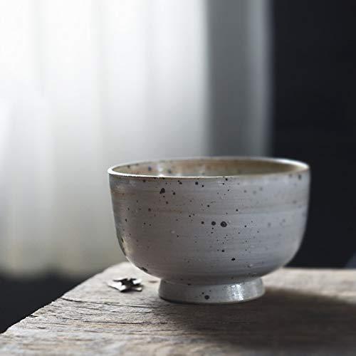 ShiSyan Vajilla Hecha a Mano Plato de Arroz del Estilo de Japón Cerámica Cerámica Vajillas Vajilla de la Vendimia (Color: Blanco) Cuencos y tazones