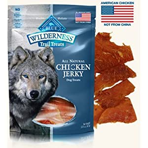 3 Bags – Blue Buffalo Wilderness Chicken Grain Free Dog Jerky Treats – Made in USA