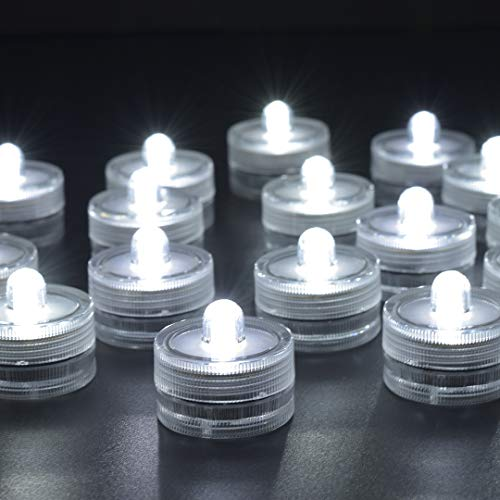 HL 36pack Wei? Wasserdicht Unterwasser Runde Mini LED Teelichter Unterwasserleuchten f¨¹r Hochzeit Home Party Vase Festival Valentinstag Dekoration