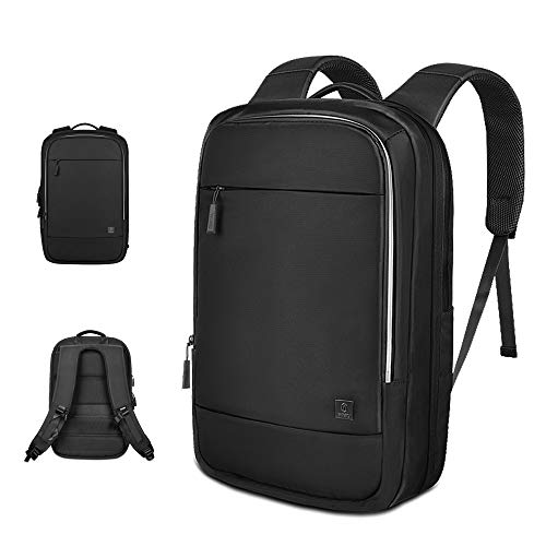 Laptop Backpack 15.6 Inch, Expandable Travel Backpack, Waterproof business backpack for Men & Women - Black