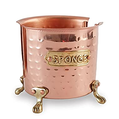Mud Pie Kitchen Sponge Holder Caddy, Copper