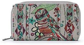 Sakroots Artist Circle Charcoal Spirit Desert Owl Wallet