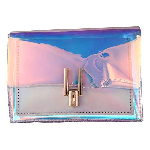 Portafoglio In PVC Trasparente Con Tracolla In Poliuretano Colorato Per Borsa Per Pochette Per Cellulare Donna (argento)