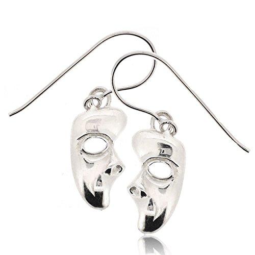 Sovats Phantom Of The Opera Mask Earring voor vrouwen 925 sterling zilver gerhodineerd - Eenvoudige, stijlvolle oorbellen en trendy nikkelvrije oorbel