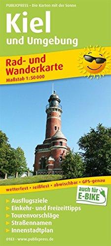 Kiel und Umgebung: Rad- und Wanderkarte mit Ausflugszielen, Einkehr- & Freizeittipps, wetterfest, reissfest, abwischbar, GPS-genau. 1:50000 (Rad- und Wanderkarte / RuWK)
