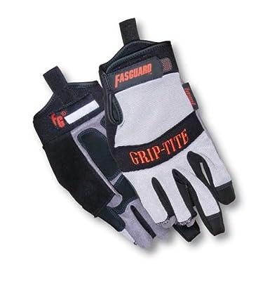 MCR Safety Multitask Fasguard 3-Finger Gloves, Grip Rite, Absorbs Shock