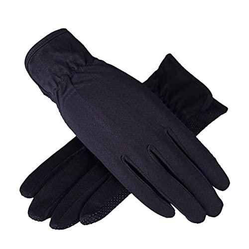 Hombres mujeres verano malla guantes protección sol protección ciclismo guantes de algodón deporte GIMNASIO Fitness entrenamiento medio dedo sin dedos mitones de carreras sin deslizamiento silicona tr