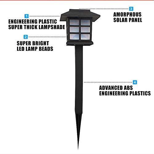 FASD Lampes de Jardin solaires en Acier Inoxydable de première qualité - Lumens Super-Brillants - Superbes - Installation Facile sans Fils, Tout Temps/résistant à l'eau