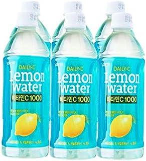 Lotte Daily-C Lemon Water - Pack, 6 x 500ml