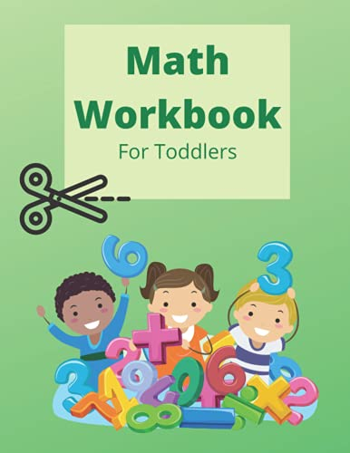 Toddler Math Learning Book: Ages 2-6, practice line tracing, counting, & more!