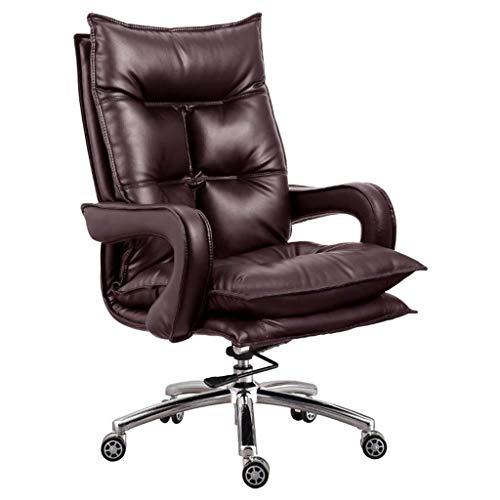 MGE Premium bureaustoel Comfortabele Executive Swivel Computer stoel, High-Back Faux lederen bekleed, Ergonomisch 135° Rock Design, 5cm Verstelbare hoogte