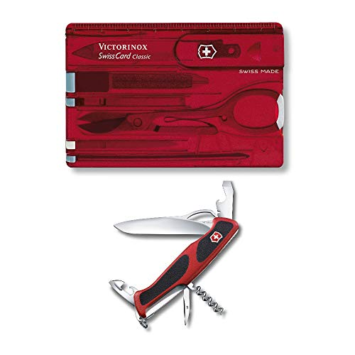 Victorinox Swiss Army RangerGrip 61 Multi-Tool Pocket Knife with SwissCard Classic Bundle (2 Items)