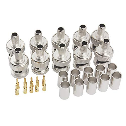 (Pack of 10) BNC Male Q9 Plug Crimp for RG8X RG-8X LMR240 Cable...