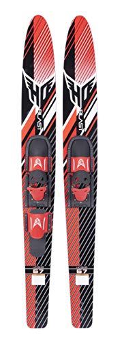 HO Blast Combo Skis w/Adjustable Horseshoe/Trainer Bindings Sz 67in/One Size