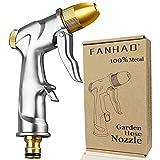 FANHAO pistola giardino alta pressione professionale pistola irrigazione giardino, 100% Metallo, con ugello in Ottone, per Lavaggio Auto, irrigazione Prato e Pulizia di Giardini/marciapiedi