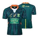 JIEBANG 2020 Afrique du Sud Maillot Rugby Rugby Shirts pour Hommes Vêtements de Sport Regular, 7S Domicile/Extérieur Entraînement Sportif T-Shirt Rugby Uniforme Home-XXXL