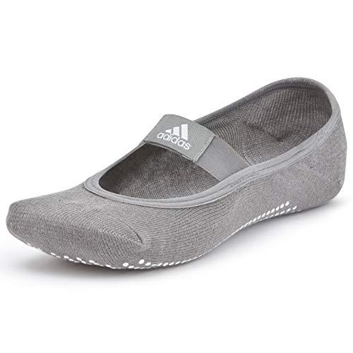 adidas ADYG-30102GR Calcetines de Yoga, Adultos Unisex, Gris, M/L-27-30 cm Largo del pie