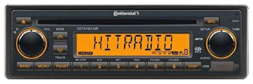 Continental CD7416U-OR - CD/MP3-Autoradio mit USB / AUX-IN