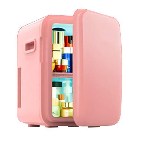 GUTYRE Refrigerador De Belleza, Mini Refrigerador Congelador, Refrigerador Doméstico De Belleza Profesional, Gabinete De Almacenamiento De Cosméticos para El Cuidado De La Piel,Rosado
