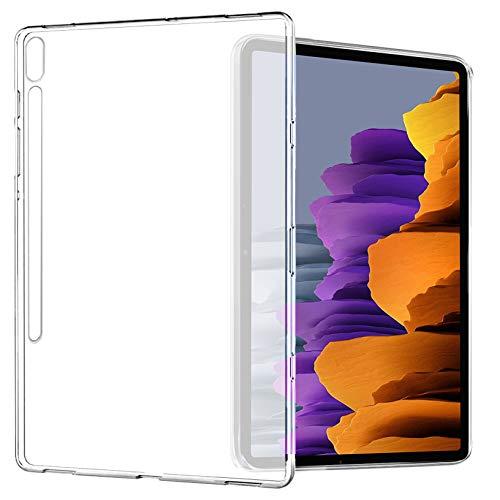 Yoowei Funda compatible con Samsung Galaxy Tab S7 11' 2020(SM-T870/T875), funda trasera translúcida de TPU flexible, silicona ultra fina y ligera funda para Tab S7 11 pulgadas