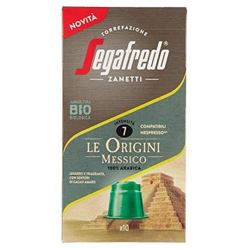 Segafredo Zanetti Capsule Compatibili Nespresso, Linea Le Origini Messico, Leggero E Fragrante, 1 Astuccio Da Capsule, Caffè, 10 Unità, 1 Conteggio