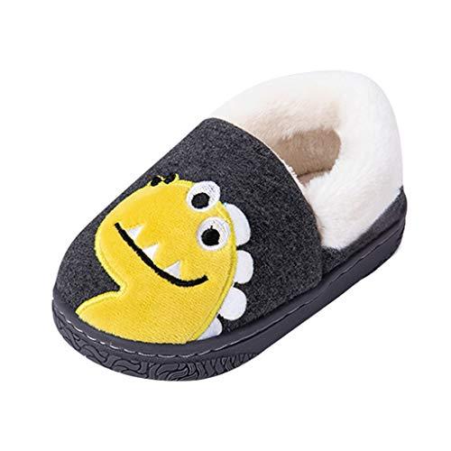 HINK-Ropa zapatos planos para niños en venta, zapatos de bebé para niños pequeños y niñas, cálidos y lindos animales al aire libre, zapatos de bebé recién nacido, Mujer, Gris oscuro, 11-11.5 Years Old