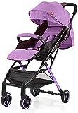 Cochecito liviano Cochecito de viaje compacto, con una mano plegable, con arnés de seguridad de 5 puntos, para recién nacidos y niños pequeños (Color : C)