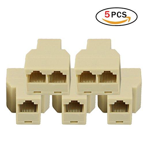 RJ45 Splitter ethernet Adapter Stecker für Netzwerkkabel Koppler für Cat5, Cat5e, Cat6, Cat7 RJ45 Splitter Ethernet