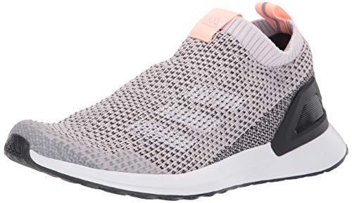 adidas Unisex-Kid's RapidaRun Laceless Knit Running Shoe, Orchid Tint/White/Carbon, 6 M US Big Kid