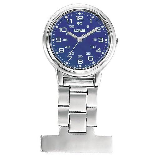 Lorus Unisex Professional Blue Dial Nurses Fob Watch RG251DX9