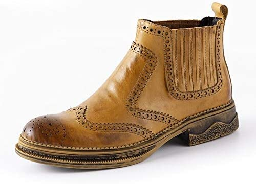 Lindarry Fashion Brogue Chelsea Boots