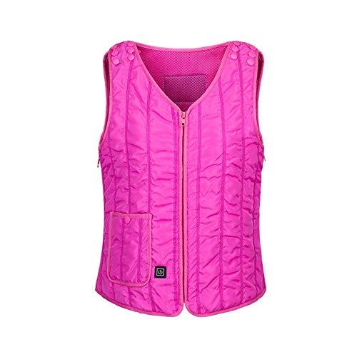 iBaste Heizweste Damen Herren Beheizte Weste USB Auflade Daunenweste Warm Elektrische Weste Down Jacket Steppweste für Outdoor Sport-Temperatureinstellung