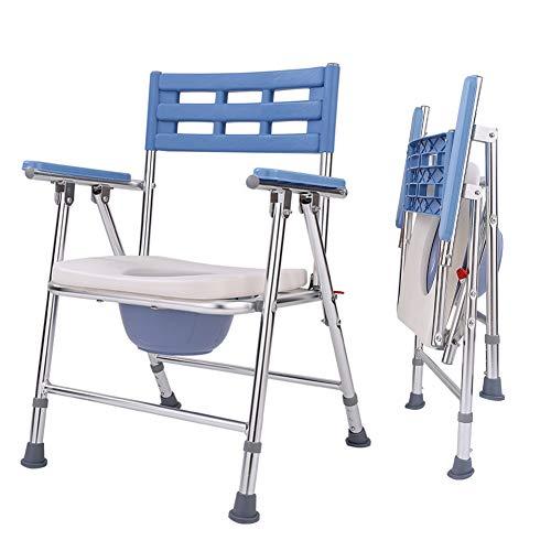 Klappbare Toilettenstuhl, Multifunktion Mit Toilettenschüssel, Tragbarer Medizinischer Toilettenstuhl, Duschstuhl, Höhenverstellbar
