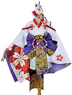 COS/COSPLAY 陰陽師 雪女 月見の桜 ゆきおんな コスプレ衣装 仮装 変装 アニメ ハロウィン