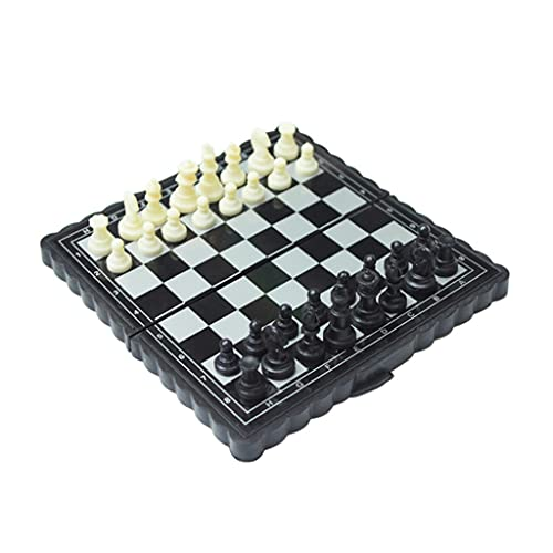 Juego de Ajedrez Conjunto de ajedrez magnético Portátil Mini International Travel Ajedrez Conjunto de juegos plegables de ajedrez juego Juegue juegos de familia Juego de Mesa ( tamaño : 13x13cm )