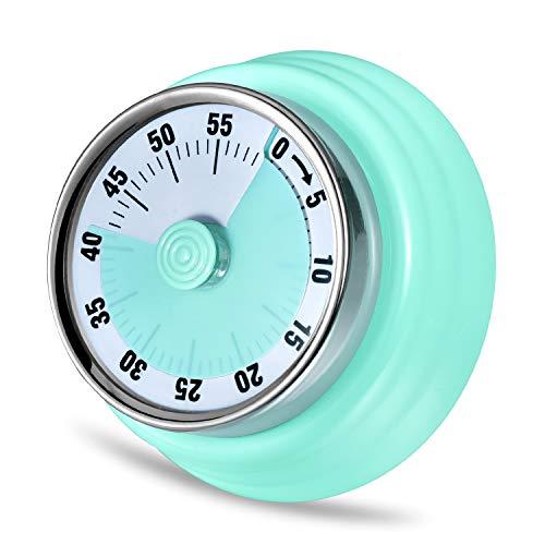 LAOPAO Minuteur de Cuisine, 60 Minutes Mécanique Magnétique Aucune Batterie Requise avec 72db Alarme